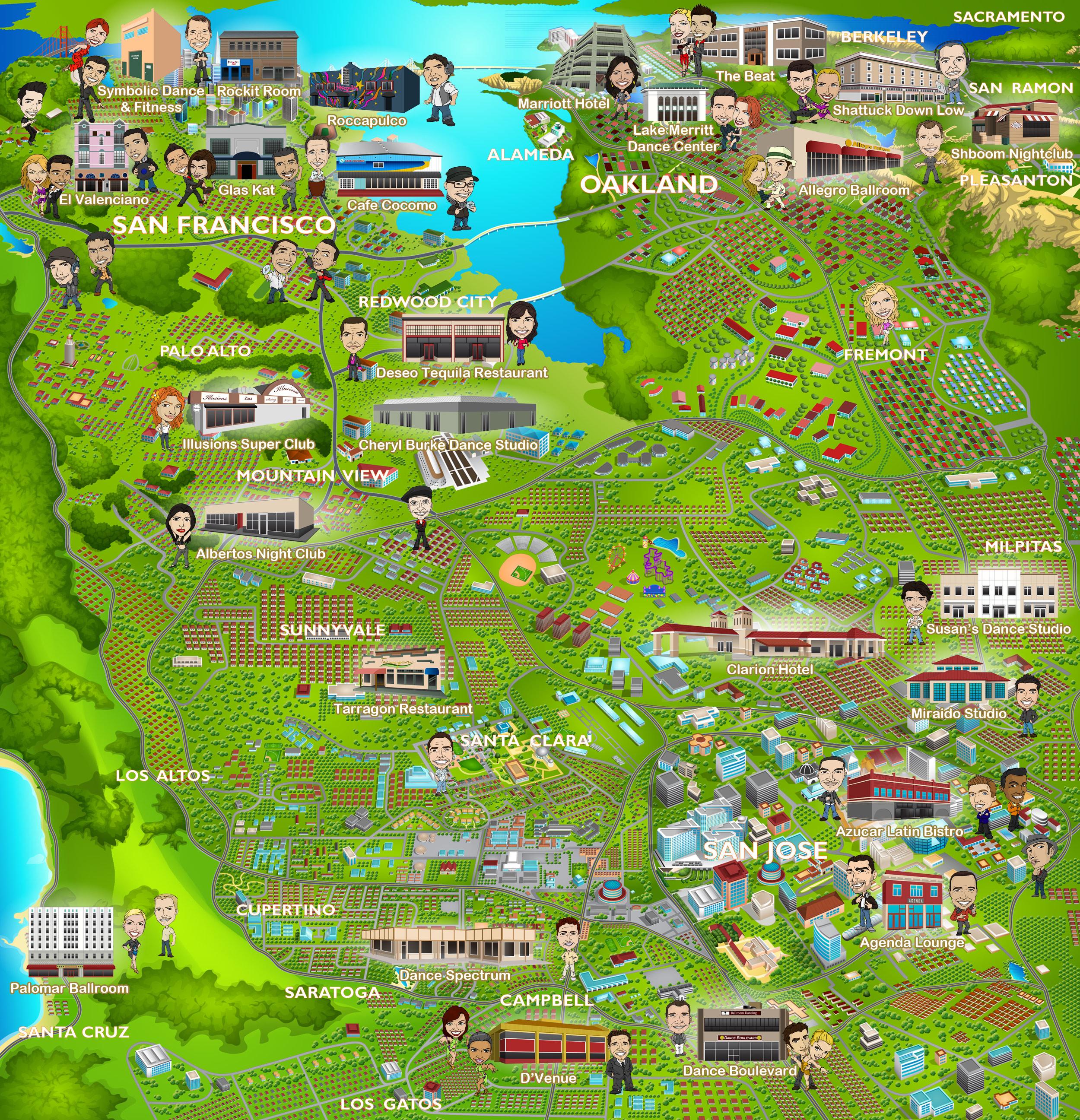 Bay Area Salsa Map