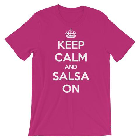 Keep Calm And Salsa On T-Shirt